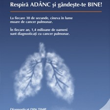 """TAKE A DEEP BREATH AND THINK CARREFULLY""  lung cancer campaign"